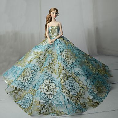 Haljina za lutke Party / Večer Za Barbie Čipka Plava Til Čipka Mješavina pamuka Haljina Za Djevojka je Doll igračkama