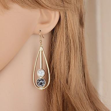 preiswerte Vintage Ohrringe-Damen Tropfen-Ohrringe Lang Birne Retro Elegant Ohrringe Schmuck Weiß / Grün Für Hochzeit Party 1 Paar