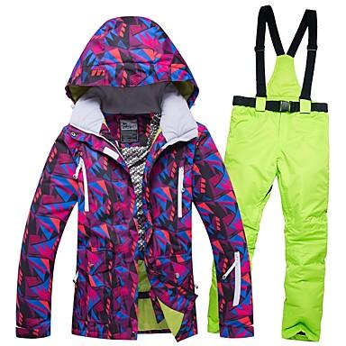RIVIYELE Žene Skijaška jakna i hlače Zimski sportovi Vjetronepropusnost Toplo Prozračnosti POLY Traper Sportska odijela Skijaška odjeća / Zima