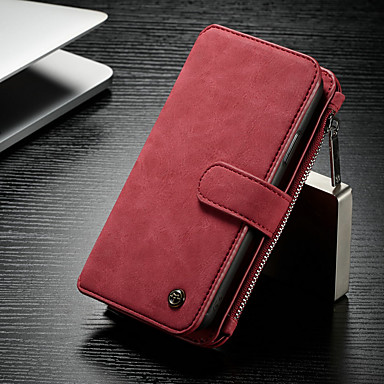 lowest price 4210d 57bda [$14.99] CaseMe Case For Apple iPhone X / iPhone XS Wallet / Card Holder /  with Stand Full Body Cases Solid Colored Hard PU Leather for iPhone XS / ...