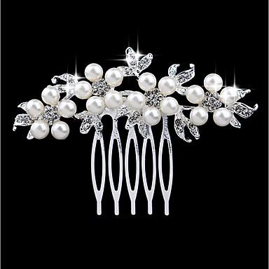 levne Dámské šperky-Dámské Módní Napodobenina perel Štras Slitina Hřebeny na vlasy Svatební Párty - Květinový / Leaf Shape