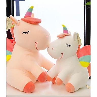 Konj Unicorn Plüssállatok Životinje Dekompresijske igračke Udoban Običan Crtići Pamuk / poliester Sve Igračke za kućne ljubimce Poklon 1 pcs