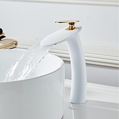 Kupaonica Sudoper pipa - Waterfall Slikano završi Središnje pozicionirane Jedan Ručka jedna rupaBath Taps