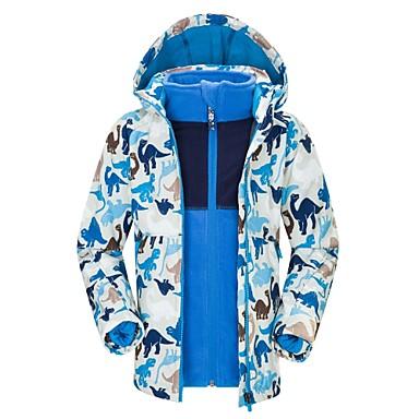 BEIQIU Dječaci Djevojčice Skijaška jakna Camping & planinarenje Zimski sportovi Vodootporno Vjetronepropusnost Toplo POLY Vjetronepropusne jakne Topla majica Majice Skijaška odjeća / Zima