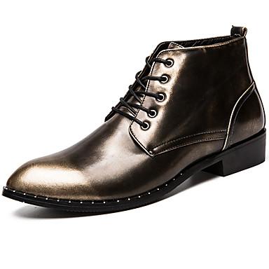 Muškarci Fashion Boots Sintetika Proljeće & Jesen Ležerne prilike / Uglađeni Čizme Ugrijati Čizme gležnjače / do gležnja Crn / Braon / Lila-roza / Šljokice / Ured i karijera / Vojničke čizme