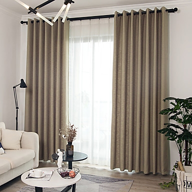 Campestre Blackout cortinas cortinas Dos Paneles Cortina / Comedor ...