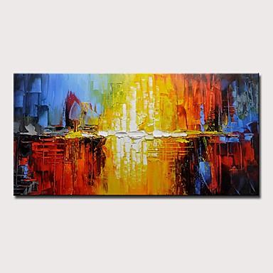 povoljno Ulja na platnu-Hang oslikana uljanim bojama Ručno oslikana - Sažetak Moderna Bez unutrašnje Frame