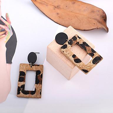 povoljno Modne naušnice-Žene Viseće naušnice Retro Statement Mértani Vintage Krzno Naušnice Jewelry Kava Za Karneval Praznik 1 par