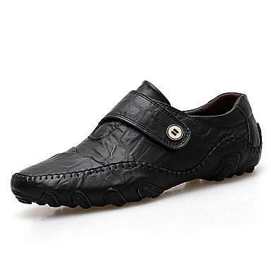 Ανδρικά Οδήγηση παπούτσια Κροκοδιλέ Καλοκαίρι Δουλειά / Καθημερινό Μοκασίνια & Ευκολόφορετα Περπάτημα Αναπνέει Μαύρο / Ανοικτό Καφέ