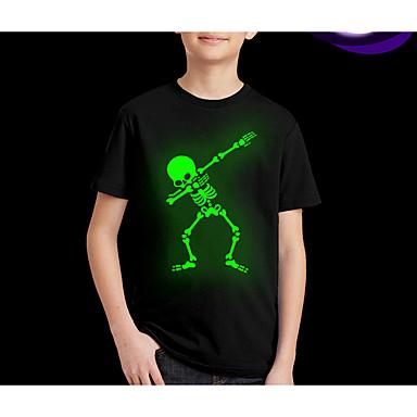 billiga Bästsäljande-Barn Pojkar Streetchic Tryck Kortärmad Normal T-shirt Svart
