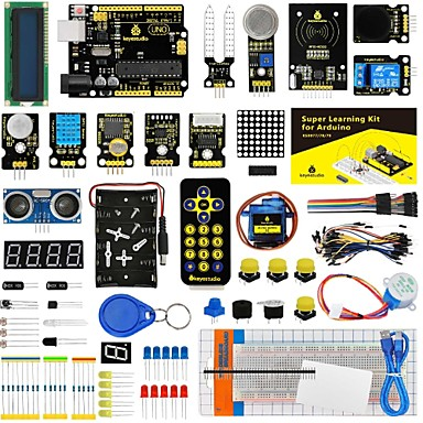 [$59 99] Keyestudio Super Starter kit/Learning Kit(UNO R3) for arduino  Starter kit with 32 Projects 1602 LCD