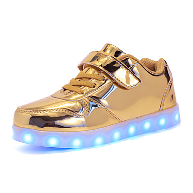cheap New Arrivals-Boys' LED Shoes PU Sneakers Little Kids(4-7ys) / Big Kids(7years +) LED Gold / Silver / Pink Fall / Winter