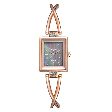 cheap Square & Rectangular Watches-Women's Wrist Watch Gold Watch Square Watch Quartz Casual Casual Watch Silver / Rose Gold Analog - Rose Gold / White Black / Rose Gold Silver / Black One Year Battery Life / Imitation Diamond