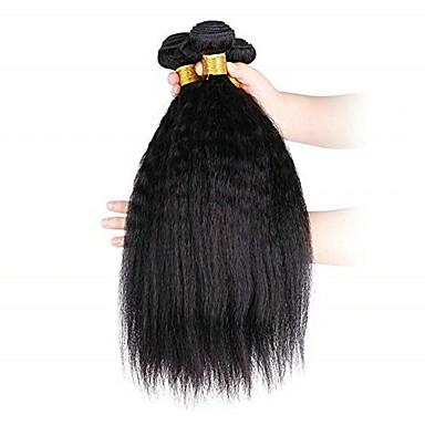 3 paketa Yaki Straight Virgin kosa Netretirana  ljudske kose Ljudske kose plete Produžetak Bundle kose 8-28 inch Prirodna boja Isprepliće ljudske kose Nježno Novi Dolazak Rasprodaja Proširenja