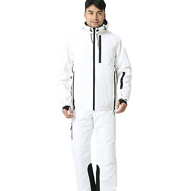 BEIQIU Muškarci Skijaška jakna i hlače Zimski sportovi Ugrijati Vodootporno Vjetronepropusnost Pamuk POLY Sportska odijela Skijaška odjeća / Zima