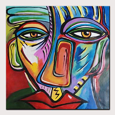 Hang festett olajfestmény Kézzel festett - Híres / Emberek Modern Anélkül, belső keret