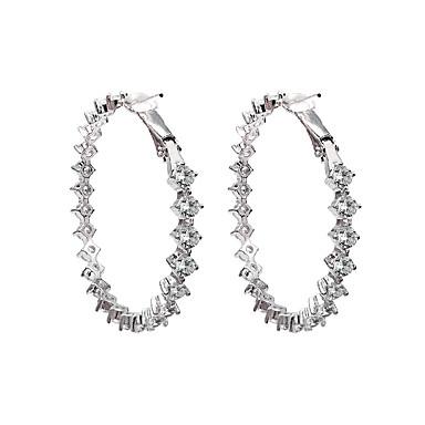 levne Dámské šperky-Klasika Náušnice - Zirkon Diamant Evropský, minimalistický styl, Módní Zlatá / Stříbrná Pro Párty Dar Dámské / 1 Pair