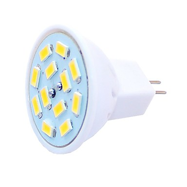 SENCART 6pcs 1.5 W LED-spotpærer 450 lm G4 MR11 MR11 12 LED perler SMD 5730 Dekorativ Varm hvit Kjølig hvit 12-24 V