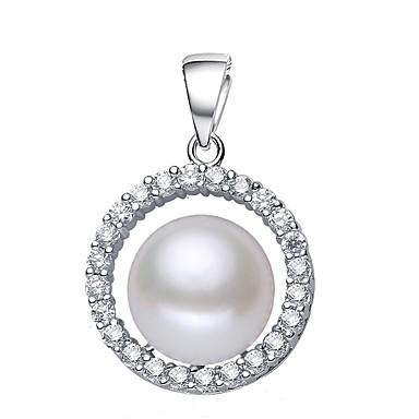 levne Dámské šperky-Sladkovodní perla Klasika Přívěšky - Perly, S925 Sterling Silver Blahoslavený minimalistický styl, Módní, Elegantní Bílá / Světlá růžová / Fialová Pro Večírek Dar Dámské