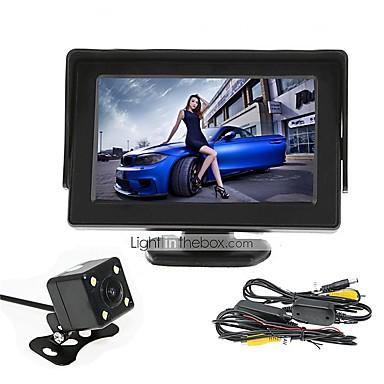 billige Bil Elektronikk-renepai® 4.3 tommers skjerm + trådløs 170 ° hd bil ryggekamera + high-definition vidvinkel vanntett cmos kamera