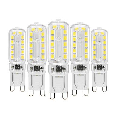 cheap Light Bulbs-YWXLIGHT® 5pcs 6 W LED Bi-pin Lights 450-550 lm G9 T 22 LED Beads SMD 2835 Dimmable Decorative Warm White Cold White Natural White 220-240 V 110-130 V / 5 pcs / RoHS