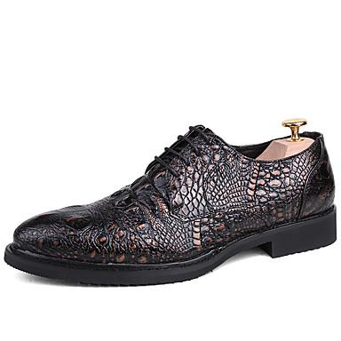 Muškarci Formalne cipele Sintetika Proljeće & Jesen Ležerne prilike / Uglađeni Oksfordice Non-klizanje Crn / Braon / Lila-roza / Svečane cipele