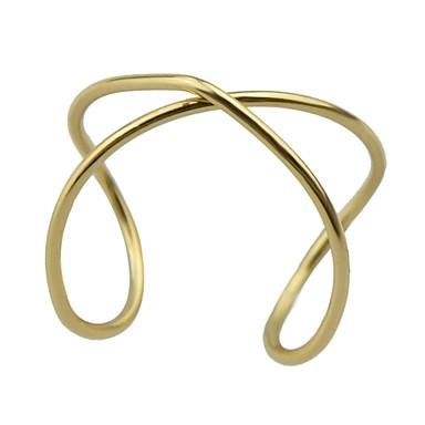 billige Motering-Dame Åpne Ring 1pc Gull Legering damer Geometrisk Grunnleggende Daglig Stevnemøte Smykker crossover X-ring Søtt