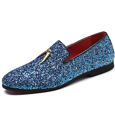 Homens Sapatos formais Sintéticos Primavera Verão / Outono & inverno Casual / Formais Mocassins e Slip-Ons Não escorregar Branco / Azul