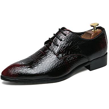 Muškarci Formalne cipele Sintetika Proljeće & Jesen Ležerne prilike / Uglađeni Oksfordice Non-klizanje Crn / Lila-roza / Svečane cipele