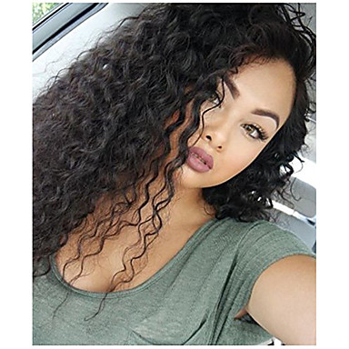 62af85bc4 Remy Human Hair 360 Frontal Wig Asymmetrical style Brazilian Hair Curly Wig  150% Density with Baby Hair Women Comfortable Natural Hairline 100% Virgin  ...