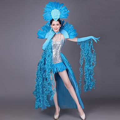 6a7548e17 [$229.99] Dama española Disfraz Adulto Mujer Flamenco Halloween Carnaval  Mascarada Festival / Celebración Lentejuela Gemas Artificiales Verde / Azul  ...