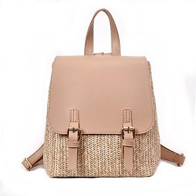 Slama Patent-zatvarač ruksak Dnevno Crn / Obala / Blushing Pink