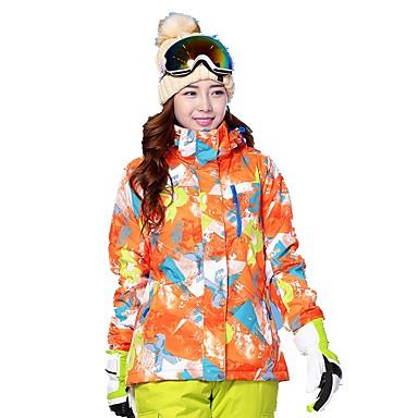 MARSNOW® Žene Skijaška jakna Zimski sportovi Ugrijati Vjetronepropusnost Prozračnosti Mješavina pamuka Softshell jakne Skijaška odjeća / Zima