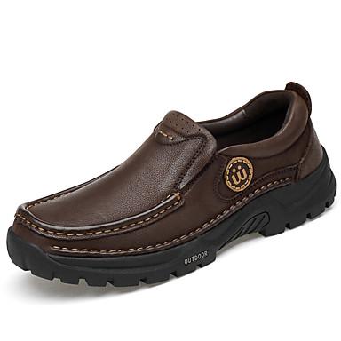 Ανδρικά Παπούτσια άνεσης Δερμάτινο Άνοιξη / Φθινόπωρο Μοκασίνια & Ευκολόφορετα Μαύρο / Καφέ
