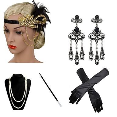 LC /_ Flapper Gran Gatsby Diadema Perla Charleston Fiesta Boda Accesorio para