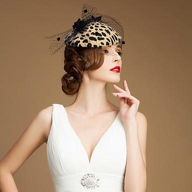 povoljno Party pokrivala za glavu-Drago kamenje i kristali / Vuna / Til Kentucky Derby Hat / Fascinators / kape s Kristal 1 Vjenčanje / Special Occasion / Zabava / večer Glava