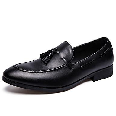 Muškarci Formalne cipele Sintetika Proljeće & Jesen Ležerne prilike / Uglađeni Natikače i mokasinke Non-klizanje Crn / Šljokice / Ured i karijera / Svečane cipele / Cipele za vožnju