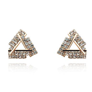 levne Dámské šperky-Kov Náušnice - S925 Sterling Silver Diamant Evropský, minimalistický styl, Módní Zlatá / Stříbrná Pro Párty Denní Dámské / 1 Pair
