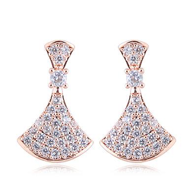 levne Dámské šperky-Kov Náušnice - Zirkon, S925 Sterling Silver Diamant minimalistický styl, Módní, Elegantní Zlatá / Stříbrná Pro Párty Denní Dámské / 1 Pair