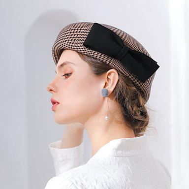 8cf92eca1ed869 Elizabeth The Marvelous Mrs. Maisel Women's Adults' Ladies Retro / Vintage  Cloche Hat Hat Gray Coffee Plaid / Check Bowknot Wool Headwear Lolita  Accessories ...