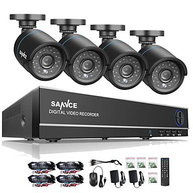 preiswerte SANNCE®-sannce® 8ch 4 in 1 720p hdmi ahd cctv dvr 4pcs 1.0 mp ir im freien überwachungskamera-überwachungssystem eingebautes 1tb-hdd