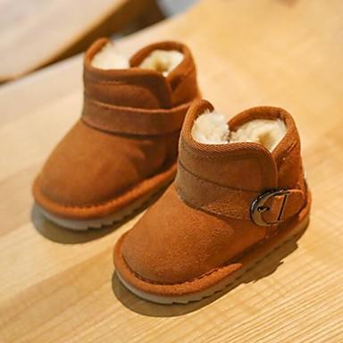 d16641493c5 Chica Zapatos Cuero Otoño invierno Botas de nieve Botas Botón para Niños    Bebé Negro   Marrón   Rosa   Botines   Hasta el Tobillo 7048006 2019 –   29.99