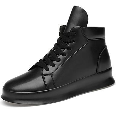Muškarci Kožne cipele Koža Jesen zima Ležerne prilike / Stil preppy Sneakers Non-klizanje Crn / Atletski / Šljokice / Udobne cipele