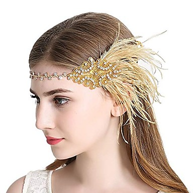 16 99 The Great Gatsby Charleston Vintage 1920s The Great Gatsby Roaring 20s Headpiece Flapper Headband Women S Tassel Costume Head Jewelry Black