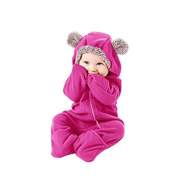 povoljno Odjeća za bebe-Dijete Djevojčice Aktivan / Osnovni Dnevno Jednobojni Sa stilom / Osnovni Dugih rukava Jednodijelno Blushing Pink / Dijete koje je tek prohodalo