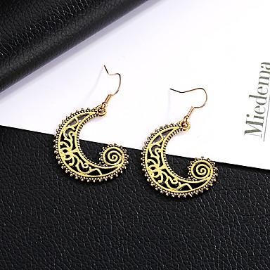 preiswerte Vintage Ohrringe-Damen Tropfen-Ohrringe MOON Retro Ethnisch Ohrringe Schmuck Gold / Schwarz / Silber Für Zeremonie Festival 1 Paar