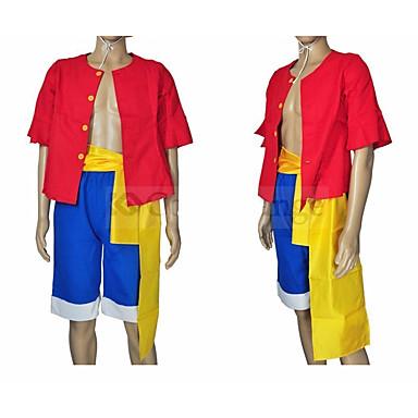 Inspirirana One Piece Monkey D. Luffy Anime Cosplay nošnje Japanski Cosplay Suits / Top / Kratke hlače / Traka / vrpca Za Uniseks