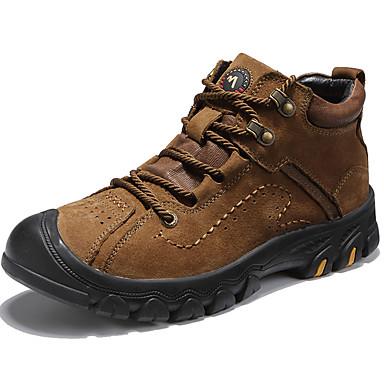 Muškarci Čizme za snijeg Mekana koža Jesen zima Klasik / Ležerne prilike Čizme Ugrijati Čizme do pola lista Crn / Braon / Kava / Vanjski / Fashion Boots / Vojničke čizme