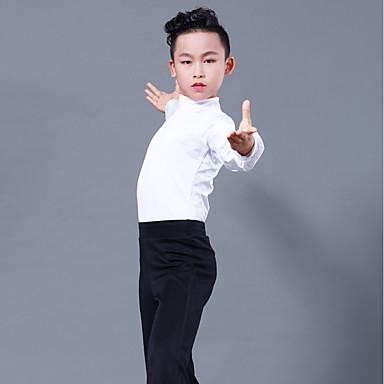 povoljno Odjeća i obuća za ples-Latino ples Majice Dječaci Seksi blagdanski kostimi Tejszövet Kombinacija materijala Dugih rukava Top