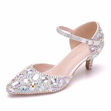 20a6099da96 Women s PU(Polyurethane) Spring   Summer Sweet Wedding Shoes Kitten Heel  Pointed Toe Rhinestone   Crystal   Buckle Rainbow   Camouflage Color  7074555 2019 – ...
